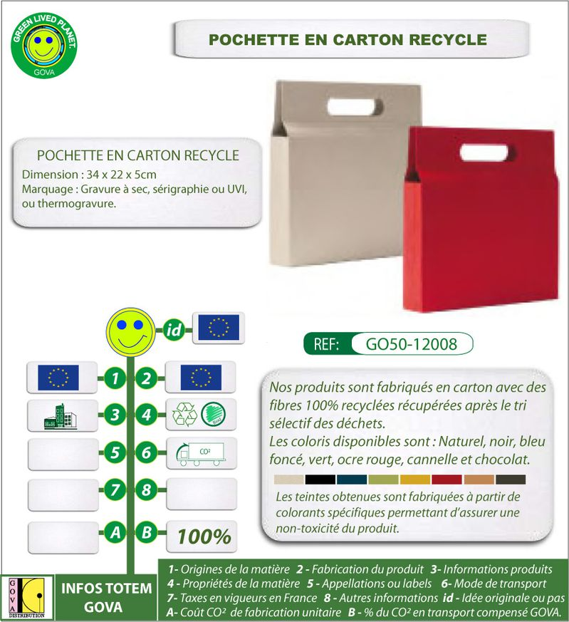 Porte document en carton ref GO50 12008