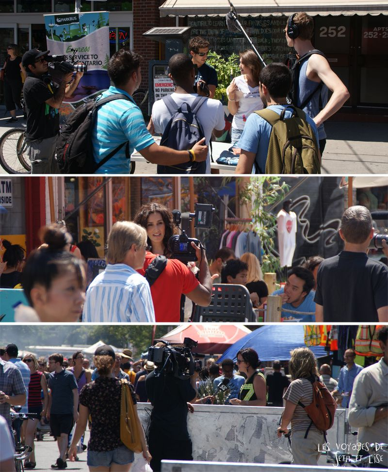blog voyage canada pvt toronto kensington pedestrian market hippie chill media journalist journalisme speaker show tv crew chick