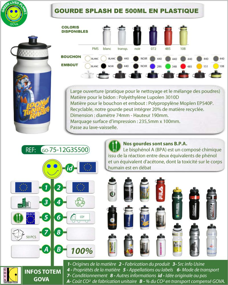 Gourde SPLASH 500ml