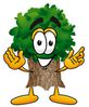 25484-clip-art-graphic-of-a-tree-character-with-welcoming-o