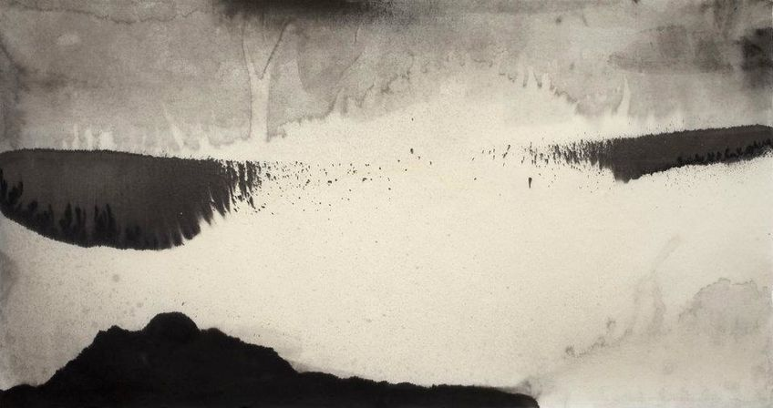 Sky Pape Untitled (Image 9429, 2012) Sumi Ink on handmade p