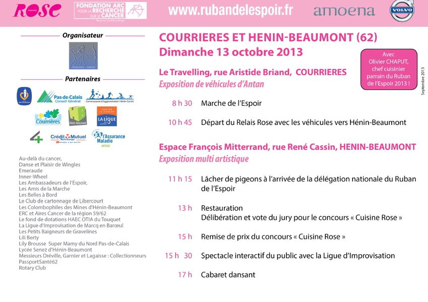 AFFICHE COURRIERES HENIN BEAUMONT