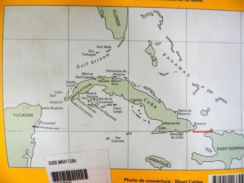 Carte Cuba Guantanamo