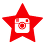 red star social media icon instagram