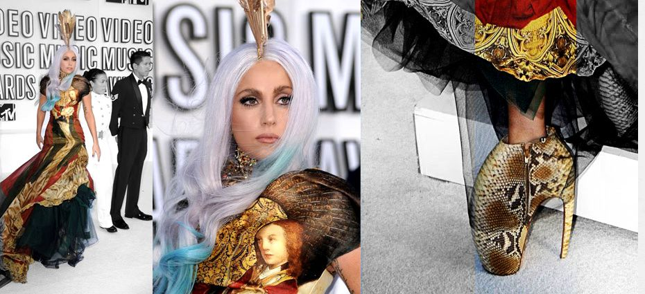 Lady Gaga Metal Dress Vma. VMA / LADY GAGA / DRESS AND