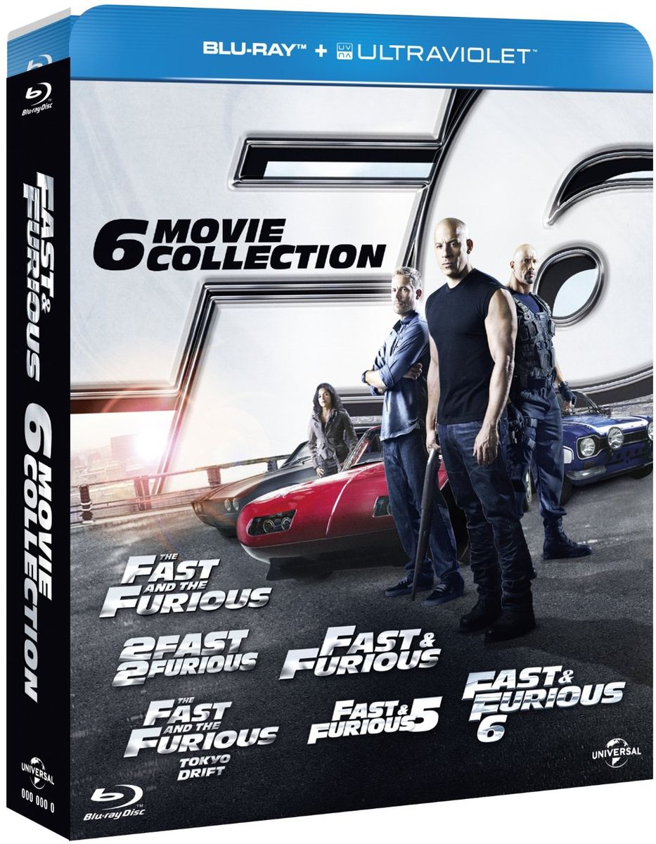 fast furious l 39 int grale totale 6 films en coffret blu ray. Black Bedroom Furniture Sets. Home Design Ideas