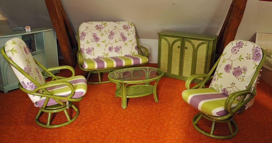 Les salons en rotin en rotin par rotin decor pour la for Meubles rotin pour veranda