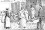 Scènes de transfert de détenu(e)s au xixe siècle - début xxe siècle)