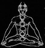 Homme chakra neutre contours fluorescents