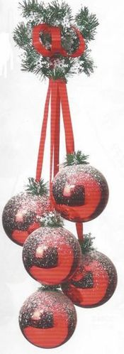 grappes boules noel