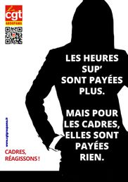 Affiche CGT - Cadres heures sup