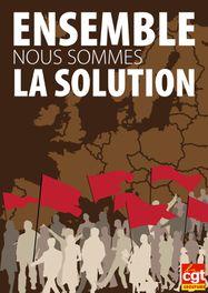 Affiche ensemble nous sommes la solution