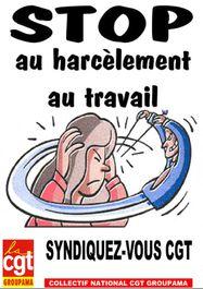 Affiche Stop au harcèlement au travail