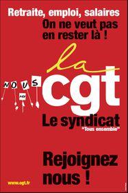 Affiche adhérer CGT
