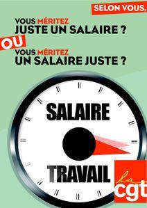 Affiche Salaire juste