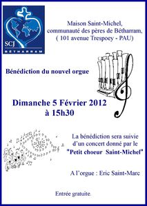 Bénédiction orgue St Michel le 5