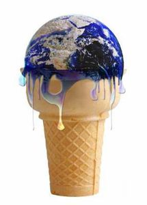 glace terre