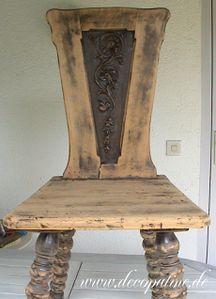 Vorher, Stuhl antik, decopatine