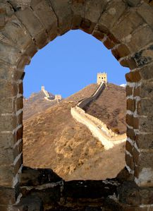 Great Wall of China, Framed view copie