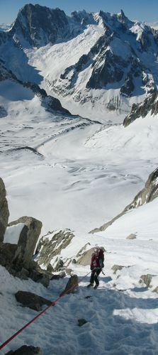 Alpinisme 0636-2 rappel dans le whymper