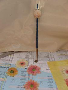 collier fantaisie perles en bois décorées fleurs 001