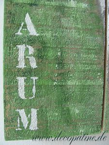 Arum, Text, deco patine