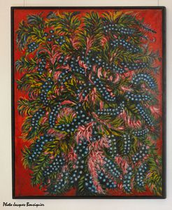 Grappes et feuilles roses Seraphine Louis Musee Art Archeol
