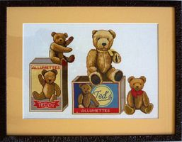 Broderie-Ours-passe-partout-chanvre-moulure-chocolat-strie.JPG