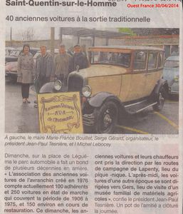 Ouest France 30 Avril 2014