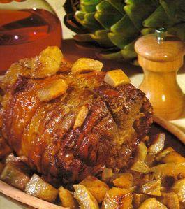 Échine-porc-artichauts