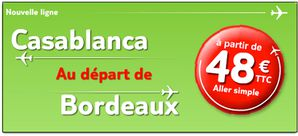 casablanca -bordeaux avec jet4you