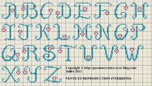 Grille Gratuite Point De Croix Alphabet Coeur Passion Creative