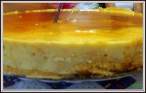 Tarta de queso y toffe