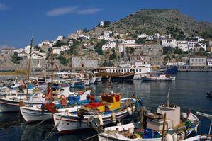 Le port et la ville d'Hydra