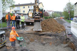Ausbau Heidenfelder Straße Baubeginn 1