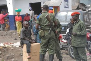 Congo soldiers in Goma