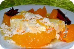 parfait glacé au grand marnier salade d'oranges au sirop d