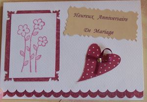 carte anniv mariage coeur