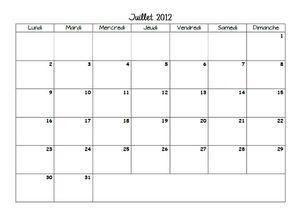 calendrier juillet décembre2012