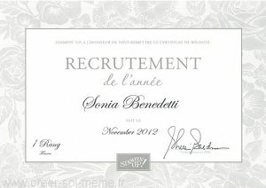 stampin up 2012 recrutement 1ere