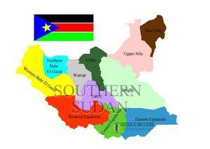 cartina sud sudan