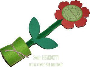 fleur feutrine kunstkarte