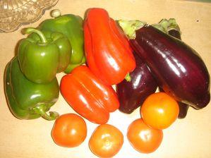 Salade d'aubergines aux poivrons