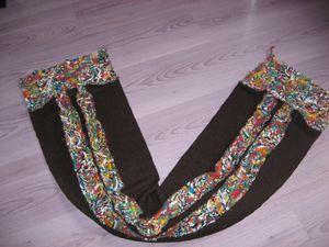 écharpes reversible en laine bouillie adulte 005