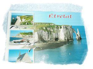carte postale etretat