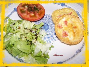 tartelettes 3 fromages -tomates 3