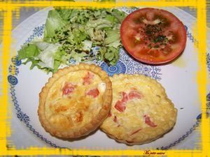 tartelettes 3 fromages -tomates 4
