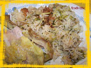 poulet à la bière et au riz 2