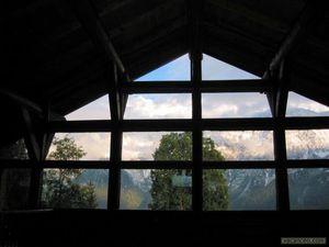 la flatiere La Chapelle vue sur les montagnes