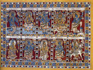 Kalamkari (travail à la plume ) - Inde089
